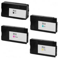 Tinteiro Compatível HP Azul Pigment Designjet T520,T120CZ130A (H711)