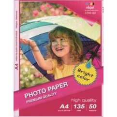 Papel Photo High Glossy Inkjet (cast coated)150g A4 50Folhas
