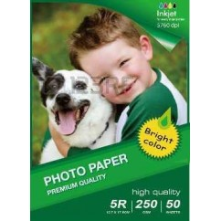 Papel Photo High Glossy Inkjet 13X18CM B6 180g-50 Folhas